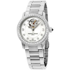 Frederique Constant Heart Beat MOP Stainless Steel Ladies Watch FC310HBAD2PD6B