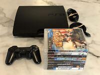 Sony Playstation 3 PS3 Slim 320GB Console Bundle: 8 Great Games & DualShock 3