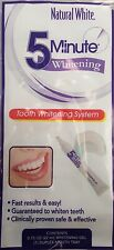Natural White 5 Minute Teeth Whitening System Kit Gel and Tray 0.75 OZ 22ml