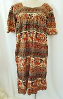 Vintage DAFFODIL EE Womens MuMu Boho Moo Moo Dress Women M Medium