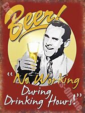 Vintage Drink, 86 Beer No working, Funny, Old Pub Bar Ale, Small Metal/Tin Sign