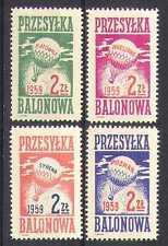 Poland 1959 BALLOON POST/Air Mail/Flight 4v set n26281