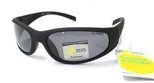 Cancer Council Mens Fashion Polarised Sunglasses Kerang Matt Black Wrap Around