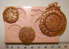 silicone mould steampunk cog clock mechanical cupcake fimo sculpey jewellery