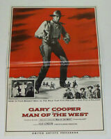 MAN OF THE WEST 1958 Movie Film PRESSBOOK - Gary Cooper