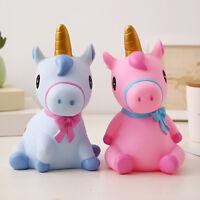 Cute Unicorn Piggy Bank Plastic Openable Money Boxes Kids Children Gifts Present