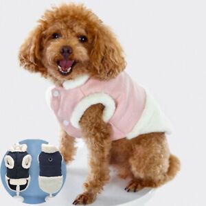 Dog Coat Small Pet Warm Lined Dog Clothes Jacket Vest Cat Puppy Winter