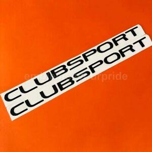 VE VF HSV Clubsport Gloss Black Side Skirt Badges