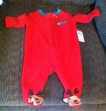 13505ed224 Small Wonders Infant Sleeper MY FIRST CHRISTMAS Reindeer Feet Newborn 0-3M  NWT