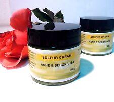 ACNE SEBORHEA SULPHUR DERMATITIS PSORIASIS Cream 70g Oily Cystic Skin FREE PP