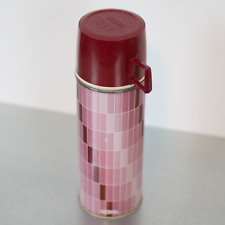 Vintage Thermos 22F Stopper 722 Cup 22A63 Pink VTG Retro
