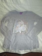 "Tee-shirt,Grise à motif ""Violetta"",ML,T11-12ans,marque Disney,en TBE"