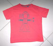 T.shirt 8 ans OKAIDI rouge avec robot 100% coton