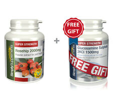 SimplyS Rosehip 2000mg 240 Caps + FREE GIFT Glucosamine Sulphate 1500mg 60 Tabs