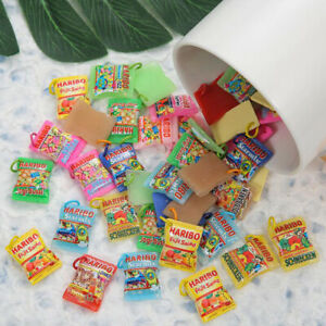 10PCS Resin Food Candy Cabochon Charms Pendant For DIY Necklace Earring Keychain