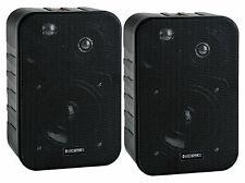 Lautsprecher Paar Monitor Hifi Box Wand Montage Bügel schwarz 10W 2-Wege kompakt