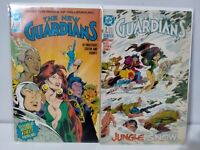 DC COMICS - The New Guardians #1 & #2 - 1988 - Bagged & Boarded
