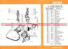 MOTOBECANE type Mobylette AV 98 D 98 L 75 NE : Fiche Carburateur GURTNER