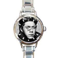 Niall Horan One Direction Quality Round Italian Charm Wrist Watch 16 Links Gift
