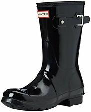 Hunter Womens Original Short Black Rain Boot - 7 B(M) US