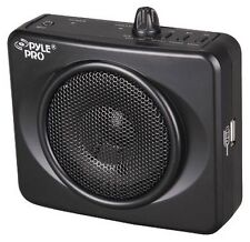 Pyle PWMA60UB Waistband USB PA Amplifier With Microphone Black