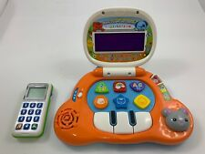New listing 2 Vtech Leapfrog Baby's Light-Up Laptop w/ Mouse + Chat & Count Smart Cell Phone