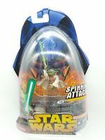 Star Wars ROTS Yoda Figure Hasbro 2005 Spinning Attack