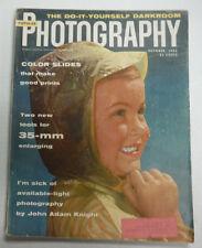 Popular Photography Magazine Color Slides 35mm Enlarging October 1955 070815R