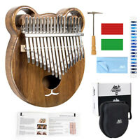 Kalimba Aklot  Solid wood Thumb Piano Mbira 17 Keys with Tuner Hammer Gig Bag