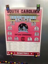 1981-82 South Carolina Gamecocks Basketball Schedule Poster Bill Foster Vintage