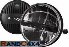 """Land Rover Defender LED 7"""" Head Light Upgrade Kit inc Side Lights 90 110 130"""