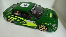 1:10 RC Nitro EXCRC Petrol Engine Green Subaru 2007 On Road Car