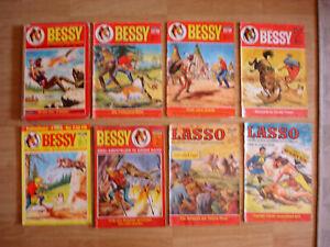 Comicsammlung Bessy Buch Nr 1, Silberpfeil ,Tom Berry ,Lasso u.a.
