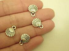 10 shellfish fish charms pendants tibetan silver jewellery making UK AM111