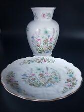 Aynsley China Vase And cake Plate In Wild Tudor