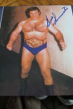 BRUNO SAMMARTINO AUTOGRAPHED 8X10 PHOTO Signed WWWF WWF WWE
