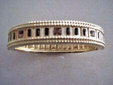 Swarovski Swan Signed Goldtone w/ Amber Crystals Bracelet Cuff Htf Rare 388