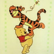 Disney Winnie The Pooh Tigger Honey Bee Baby Blanket Thick Plush Crib 30x44 NICE