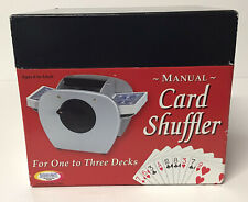 Binary Arts Manual Card Shuffler 1-3 Decks Bridge Poker Blackjack Hand Crank