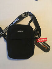SUPREME Black Shoulder Bag MODEL SS18 Messenger Cross Body