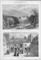 1872 Antique Print -NORTHUMBERLAND Chillingham Castle Prince Wales Princess(203)