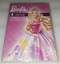 Barbie: Movie Princess Collection (4 DVD DISC SET, 2018) PREOWNED