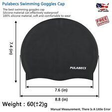 Silicone Short Hair Swim Cap - Bathing Hat Latex for Adult - Swimming Waterproof