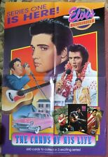 ELVIS PRESLEY SERIES ONE CARDS OF HIS LIFE RIVER GROUP PROMO POSTER RARE 1993