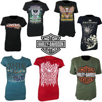 Harley-Davidson Motor Bike Slim Fit Fashion T-Shirt Ladies 100% Cotton Tops