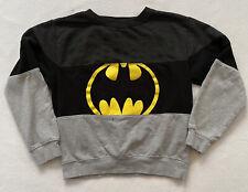 Official Batman Logo Pullover Sweater Sweat Shirt Children's 16 M Black And Gray