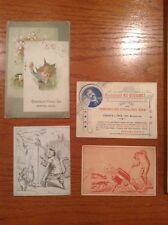 Vintage Advertising Paper lot, Emerson Piano Postcard size, Baking Powder, Syrup