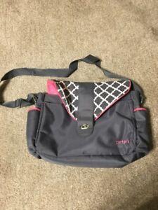 Carter's Diaper Bag Gray/Pink