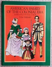 American Family of the Colonial Era Paper Dolls (1800's) by Tom Tierney, UNCUT