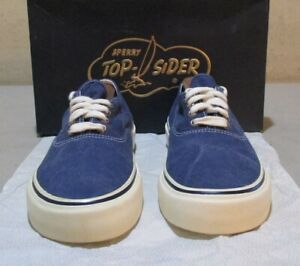 New Sperry Morrison 7 M navy canvas (6298)